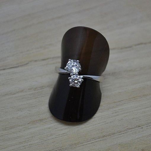 Zilveren dames ring Trento You and me online kopen | Trendy Juweeltjes