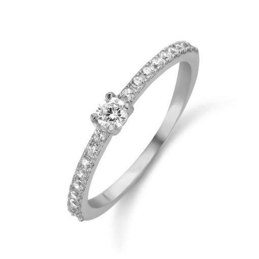 Zilveren ring New Bling 9NB-0387 - Trendy Juweeltjes