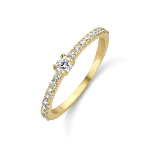 Zilveren ring New Bling 9NB-0390 - Trendy Juweeltjes