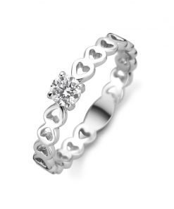 Zilveren ring New Bling 9NB-0437 - Trendy Juweeltjes