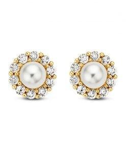 Gouden oorbellen new bling 9nbg-0017 - Trendy Juweeltjes