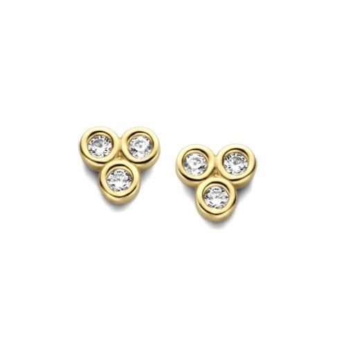 Gouden oorbellen new bling 9nbg-0166 - Trendy Juweeltjes