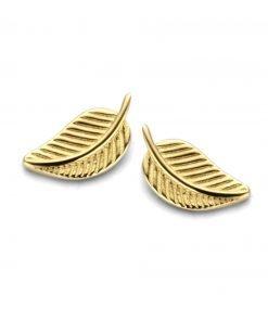 Gouden oorbellen new bling 9nbg-0168 - Trendy Juweeltjes