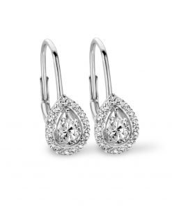 Zilveren oorbellen 9NB-0248 new bling - Trendy Juweeltjes