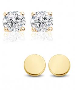 2 paar gouden oorbellen New bling - trendy Juweeltjes