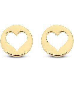 Gouden oorbellen new bling 9nbg-0036 - Trendy Juweeltjes
