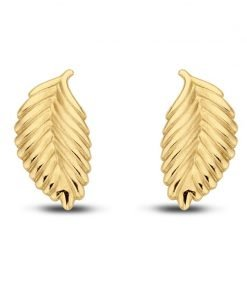 Gouden oorbellen new bling 9nbg-0038 - Trendy Juweeltjes