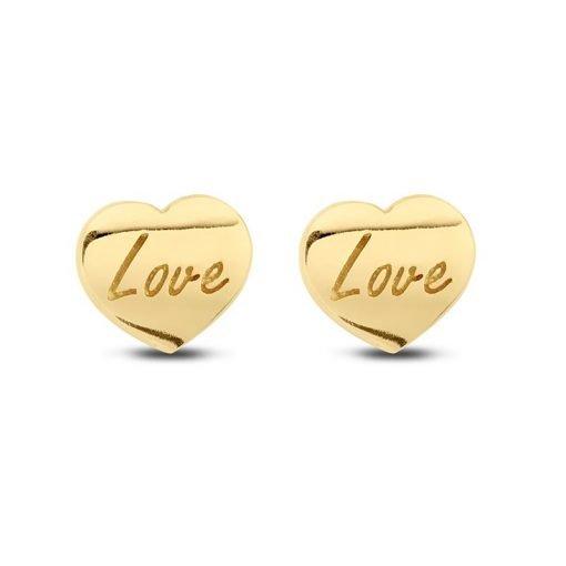 Gouden oorbellen new bling 9nbg-0039 - Trendy Juweeltjes