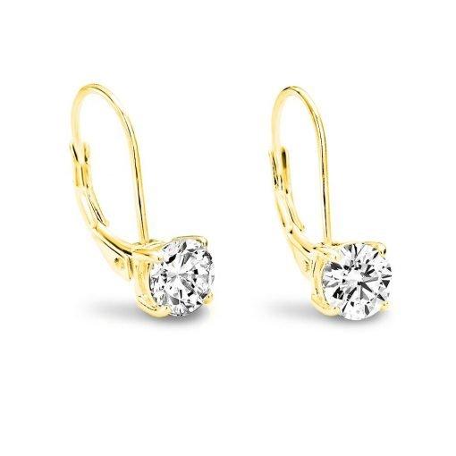 Zilveren oorbellen in goudkleur - trendy Juweeltjes