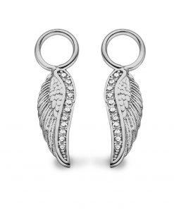 Zilveren oorbellen veer - Trendy Juweeltjes